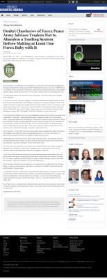 Dmitri Chavkerov -  Chicago Business News - Forex Baby Abortion