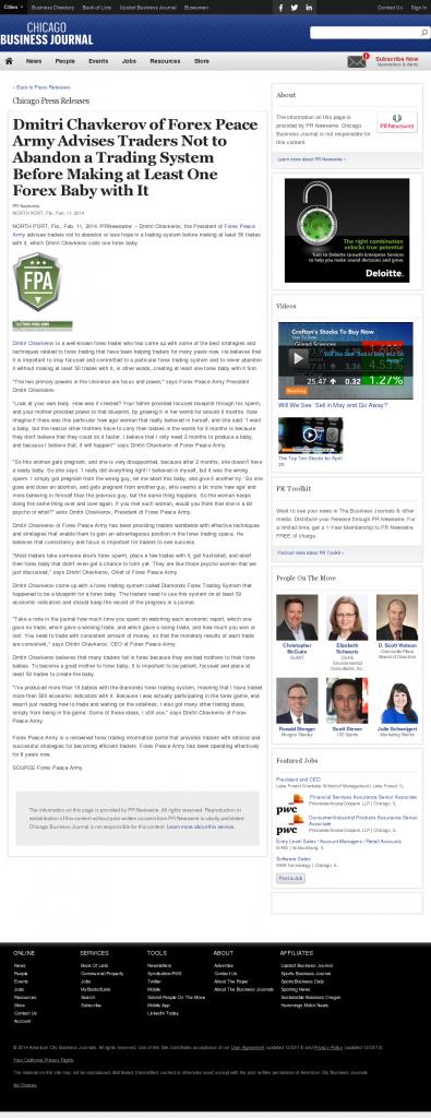 Dmitri Chavkerov - Chicago Business News- Forex Baby Abortion
