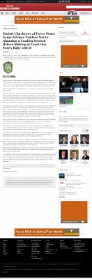 Dmitri Chavkerov -  Dallas Business Journal - Forex Baby Abortion