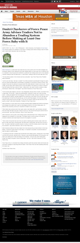 Dmitri Chavkerov - Houston Business Journal- Forex Baby Abortion