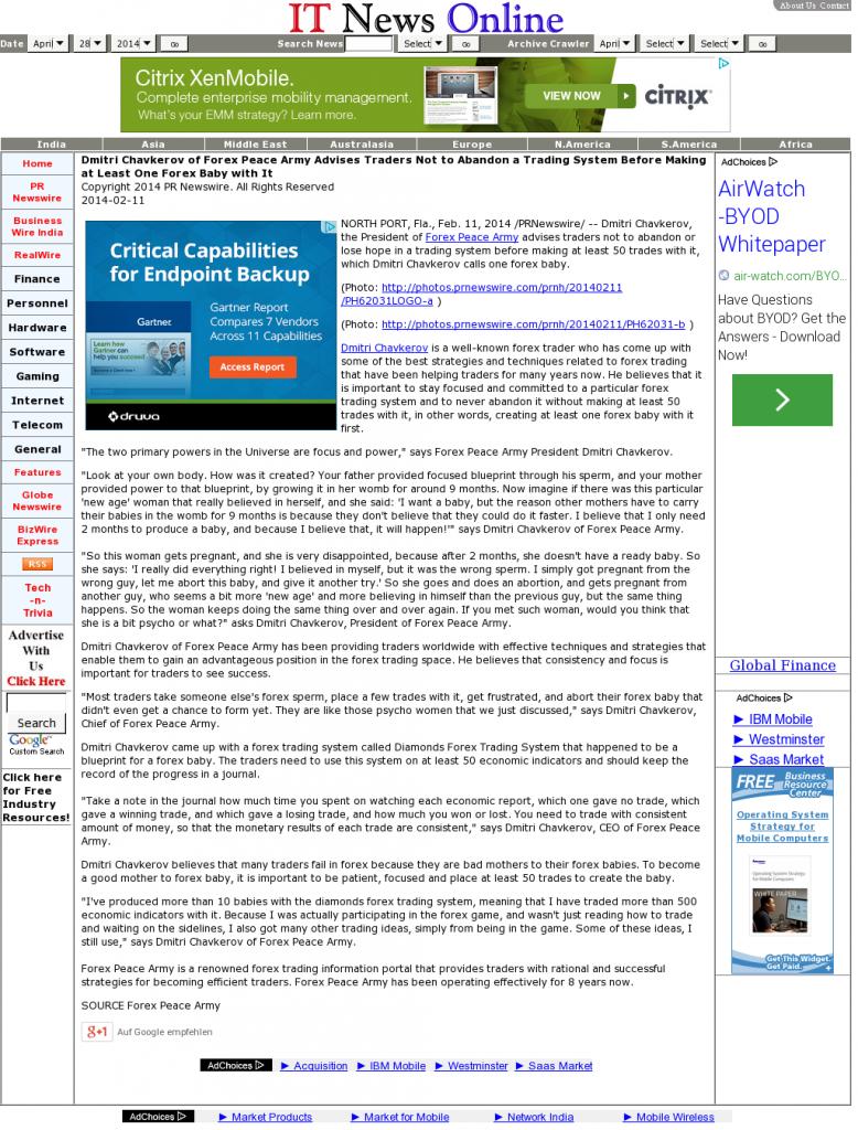 Dmitri Chavkerov - IT News Online- Forex Baby Abortion