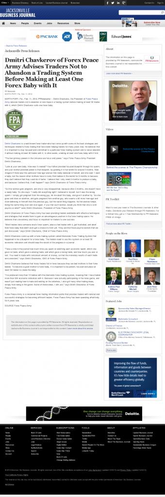 Dmitri Chavkerov - Jacksonville Business Journal- Forex Baby Abortion