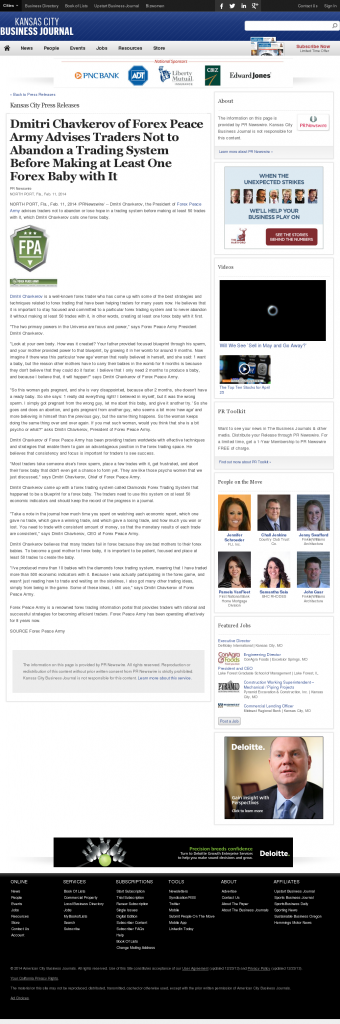 Dmitri Chavkerov - Kansas City Business Journal- Forex Baby Abortion