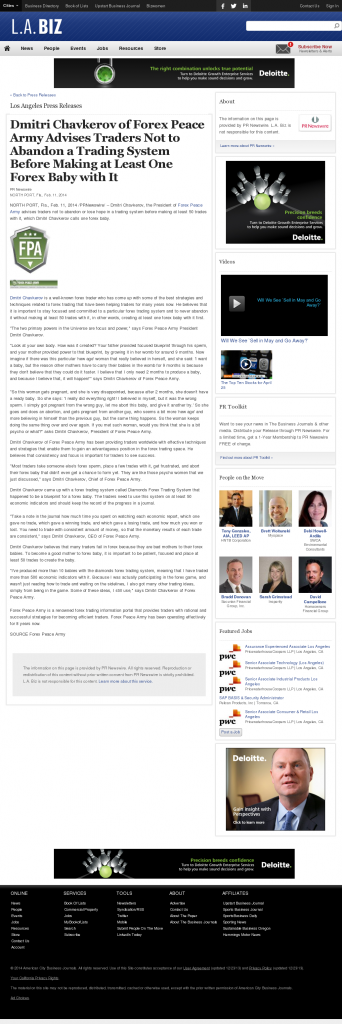 Dmitri Chavkerov - Los Angeles Business from bizjournals- Forex Baby Abortion