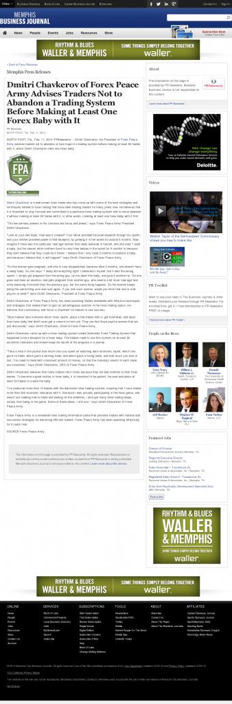 Dmitri Chavkerov - Memphis Business Journal- Forex Baby Abortion