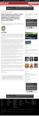 Dmitri Chavkerov -  Minneapolis / St. Paul Business Journal - Forex Baby Abortion