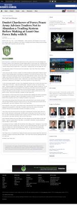 Dmitri Chavkerov -  New York Business Journal - Forex Baby Abortion