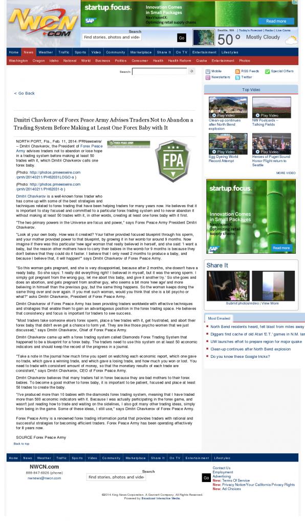 Dmitri Chavkerov - NorthWest Cable News (Seattle, WA)- Forex Baby Abortion