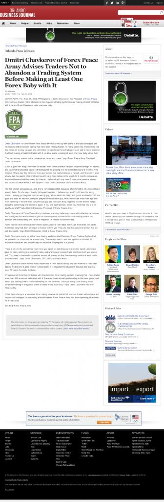 Dmitri Chavkerov - Orlando Business Journal- Forex Baby Abortion
