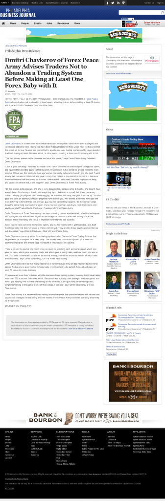 Dmitri Chavkerov - Philadelphia Business Journal- Forex Baby Abortion
