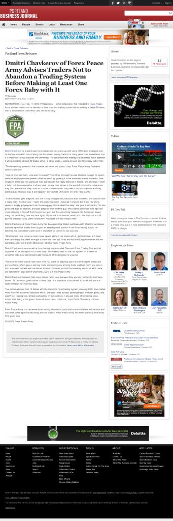 Dmitri Chavkerov - Portland Business Journal- Forex Baby Abortion