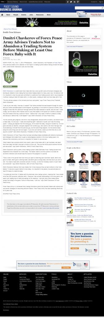 Dmitri Chavkerov - Puget Sound Business Journal- Forex Baby Abortion