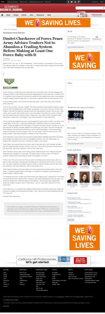 Dmitri Chavkerov - Sacramento Business Journal- Forex Baby Abortion