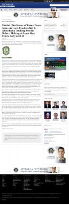 Dmitri Chavkerov -  San Jose Business Journal - Forex Baby Abortion