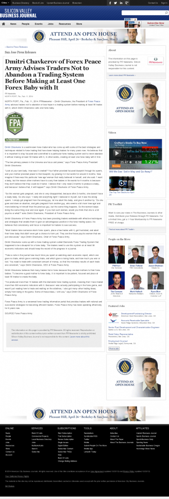 Dmitri Chavkerov - San Jose Business Journal- Forex Baby Abortion