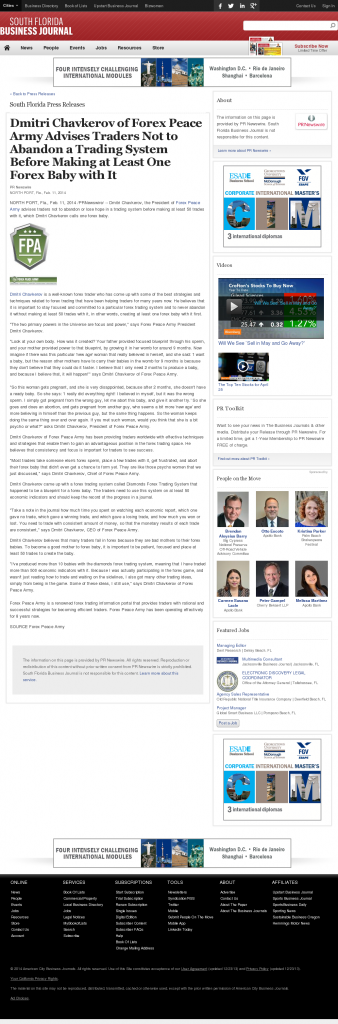Dmitri Chavkerov - South Florida Business Journal- Forex Baby Abortion