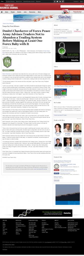 Dmitri Chavkerov - Tampa Bay Business Journal- Forex Baby Abortion