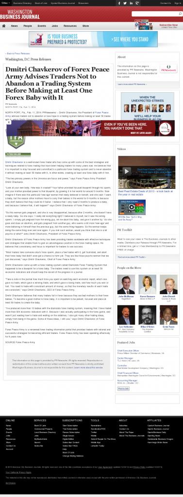 Dmitri Chavkerov - Washington Business Journal- Forex Baby Abortion