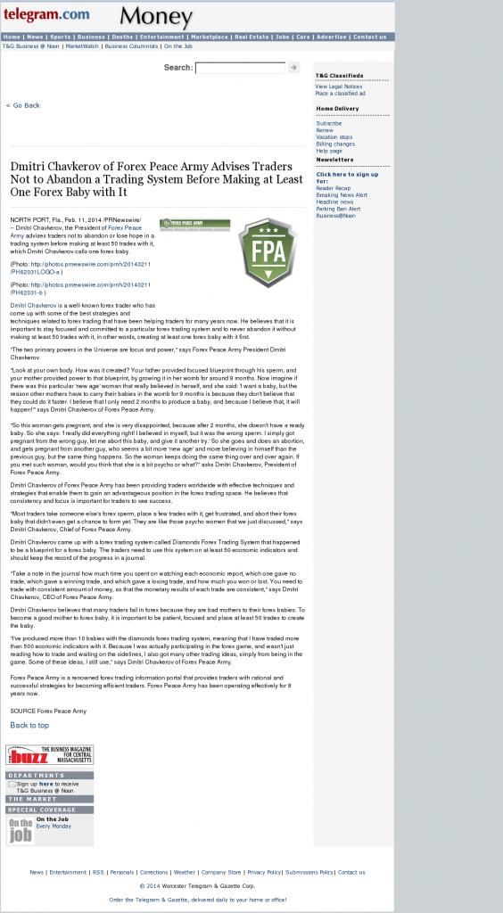 Dmitri Chavkerov - Worcester Telegram & Gazette- Forex Baby Abortion