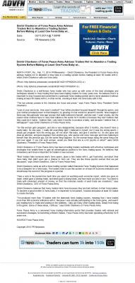 Dmitri Chavkerov -  advfn india - Forex Baby Abortion